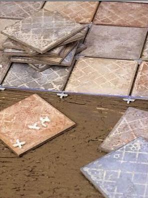 Pavimenti squadratura dei locali messa in opera dei - Distanziatori per piastrelle ...
