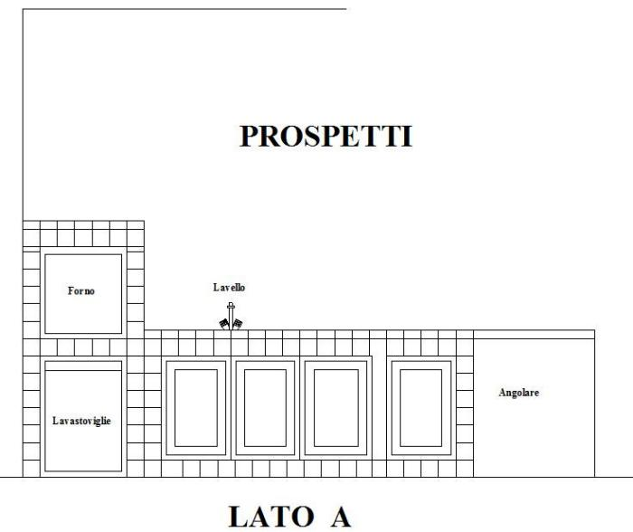 Progettare Una Cucina Componibile. Beautiful Vista Laterale Del ...