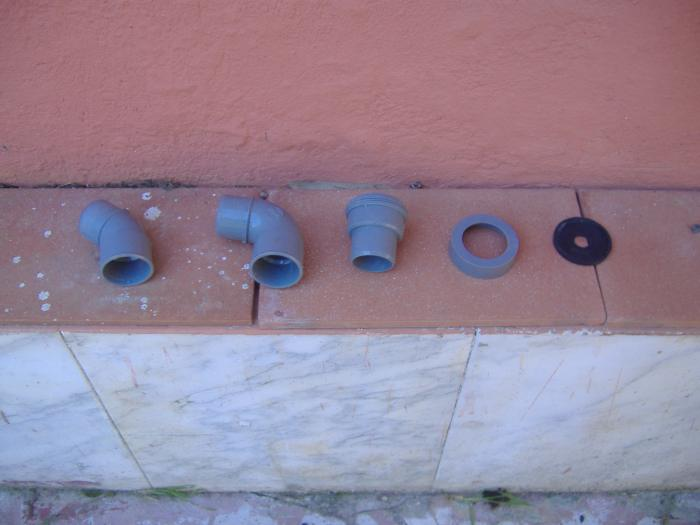 Bagni wc tubazioni di scarico dei singoli apparecchi - Doccia con tubi esterni ...