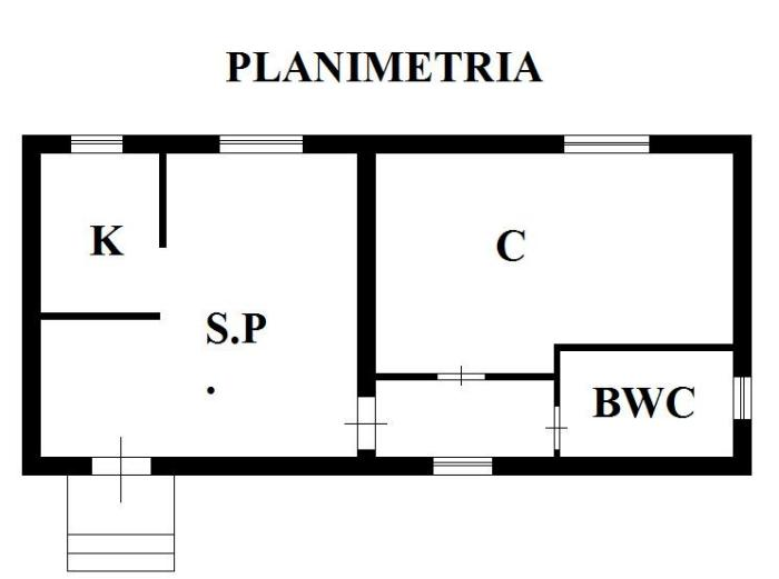 Tracce nei muri e nelle pareti per messa in opera dei for Planimetria di una casa