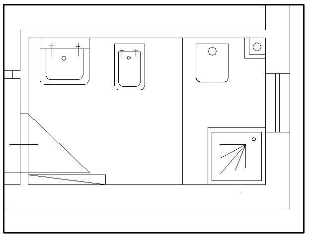 Pavimento del bagno wc come fare 29 - Misure scarichi bagno ...