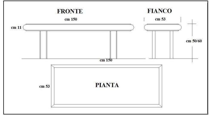 Costruzione di una panchina in cemento come fare for Creare una pianta con dimensioni