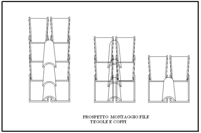 Montaggio tegole romane