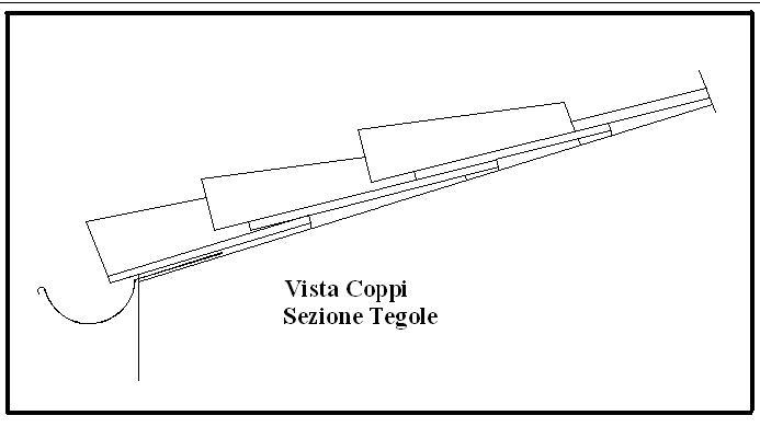 Coppi tetto dwg profilati alluminio for Tetto in legno dwg