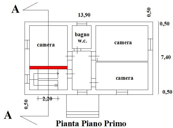 Ristrutturare una casa pozzo scale interno muro portante - Altezza di una finestra ...