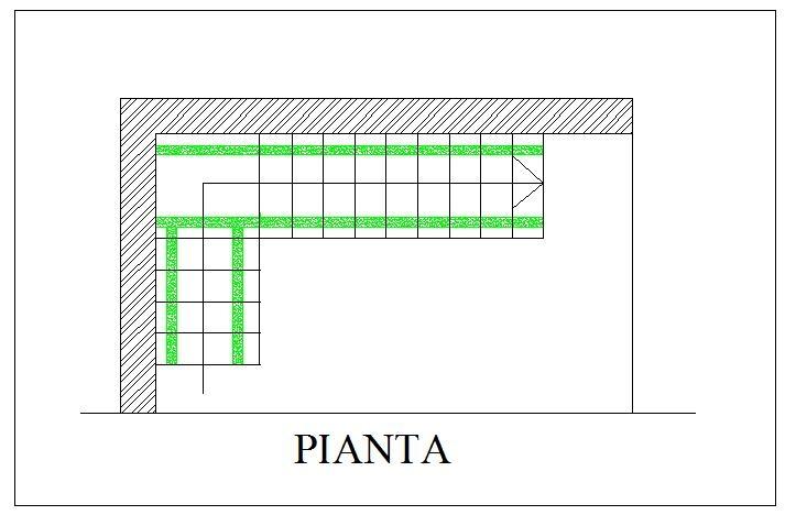 Costruzione scala in legno struttura portante prima rampa for Scale in pianta