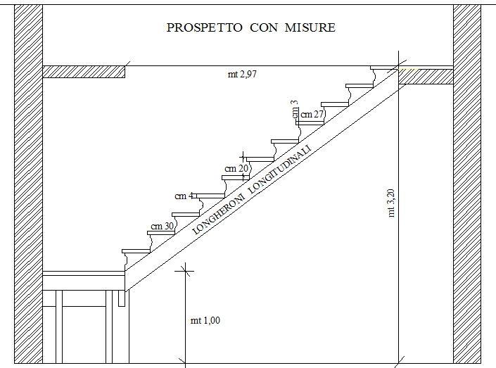 Come costruire una scala struttura portante pianerottolo for Come costruire un mazzo di 2 piani