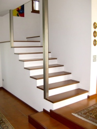 idee per rivestire scale interne : Come realizzare una scala in muratura con scalini rivestiti di legno ...