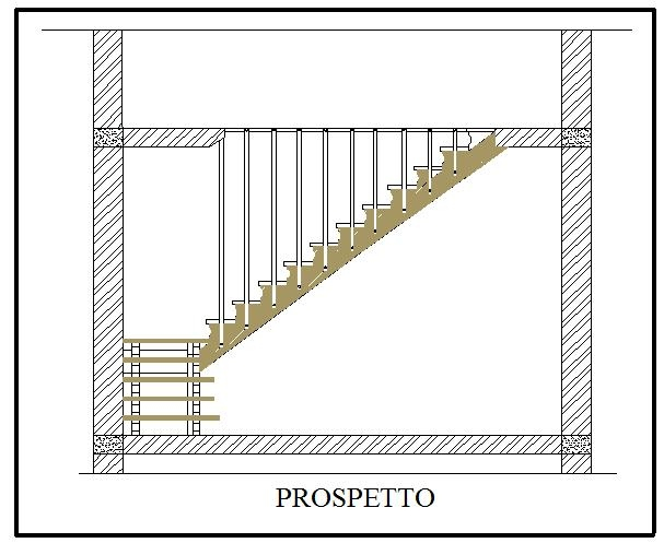 Casa immobiliare, accessori: Prospetto disegno tecnico