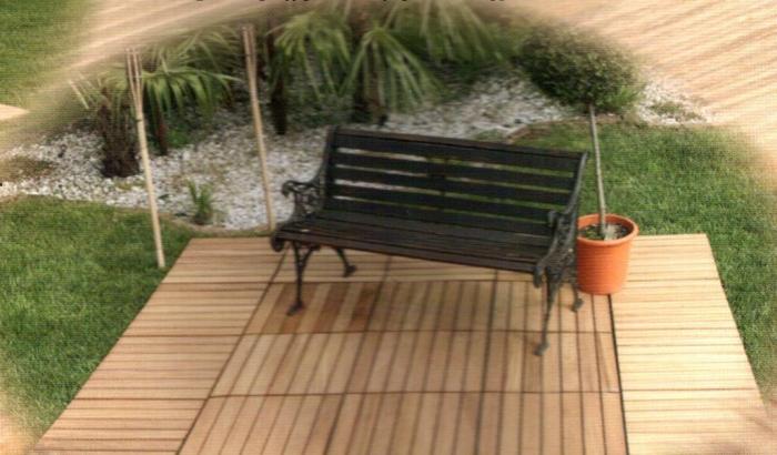 Come sistemare il giardino la eleganza e la funzionalit - Legno per giardino ...