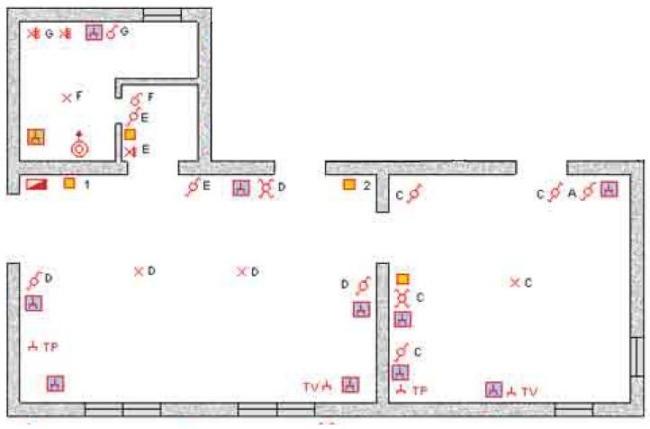 Schemi Elettrici Per Impianti Civili : Impianto elettrico di una abitazione prima parte