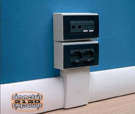 Una canaletta battiscopa per il passaggio dei cavi elettrici come fare - Impianti elettrici a vista per interni ...