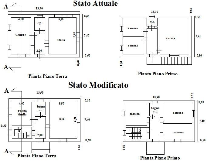 Ristrutturazione casa demolizione intonaci e for Disegni di casa e planimetrie