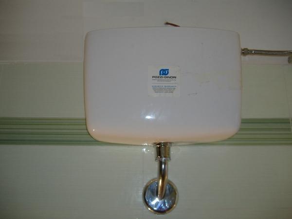 Cassetta scaricatrice o sciacquone del bagno installazione - Sciacquone bagno ...