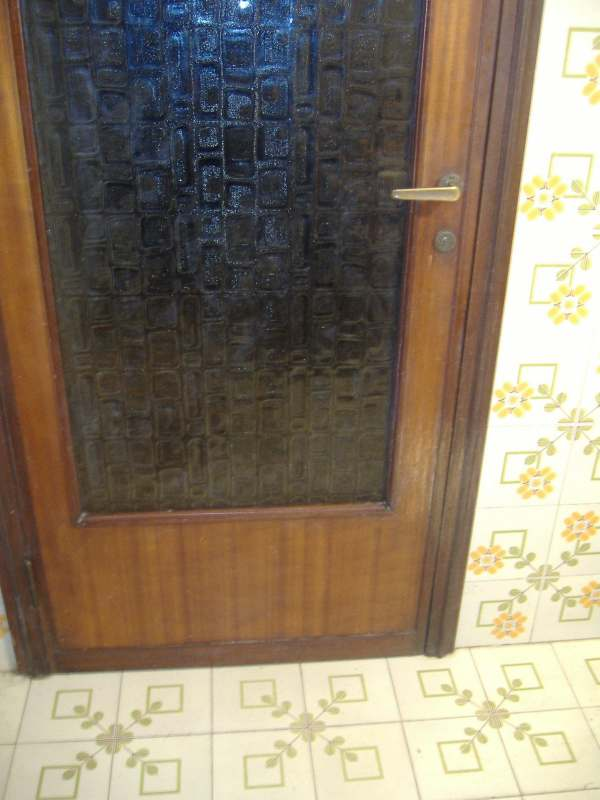 Una nuova impiallacciatura per la porta graffiata dal - Porta basculante per cani fai da te ...
