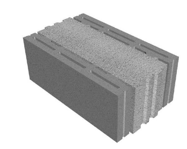 Un blocco per tamponamento in calcestruzzo a facciavista for Semplici piani di casa in blocchi di cemento