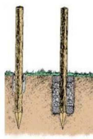 Recinzione in legno con montanti e pali trattati in autoclave for Pali cemento per recinzione