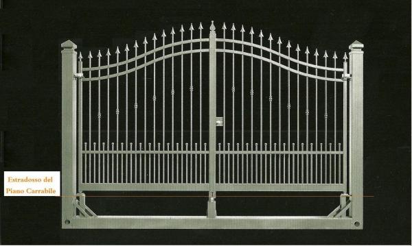 Famoso Messa in opera di un cancello carrabile con colonne in ferro. BF96