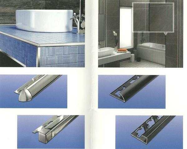Profili per piastrelle bagno terminali antivento per for Canaline copritubi