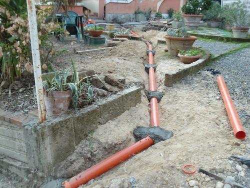 Sostituzione di una tubazione in pvc di scarico acque bianche for Tubo di scarico del riscaldatore dell acqua