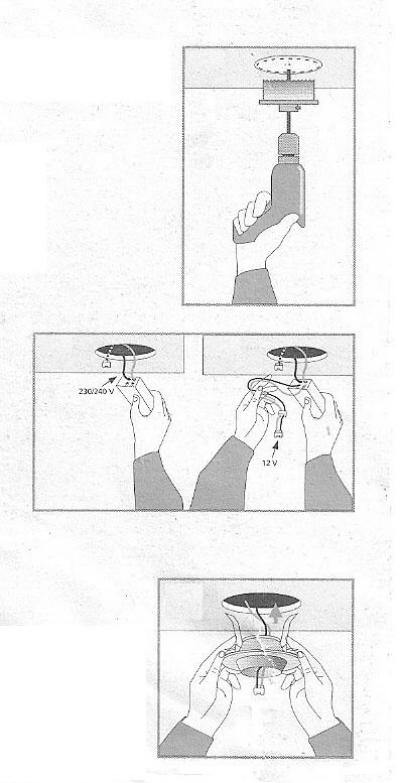 Installazione di faretti alogeni a bassa tensione e da incasso.