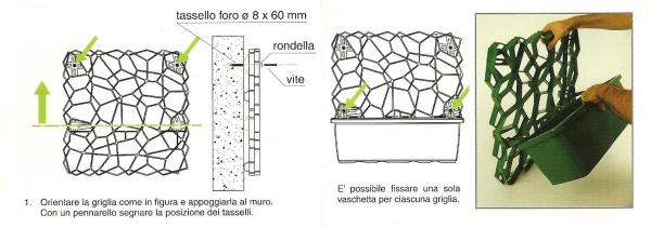 Grigliati per rampicanti profilati alluminio for Tralicci leroy merlin