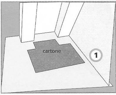 Posa in opera di un pavimento in quadri di pvc - Togliere colla piastrelle ...