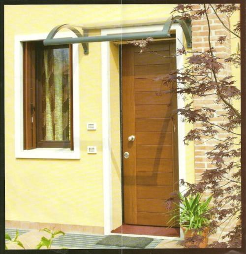 Pensiline artistiche per le nostre case - Pensiline ingresso casa ...