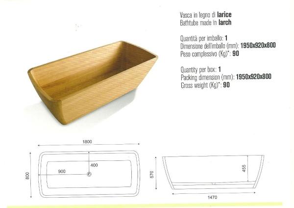 Una linea di apparecchi sanitari per il bagno, in legno caldo ed ...