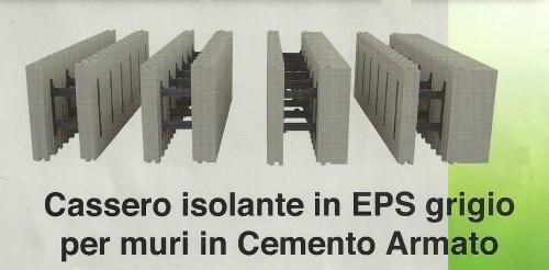 Un cassero isolante in Polistirene Espanso Sintetizzato per muri in ...