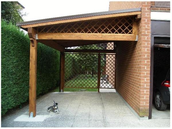 Le tettoie devono rispettare le distanze di legge dai confini for Piani di una casa colonica avvolgono il portico