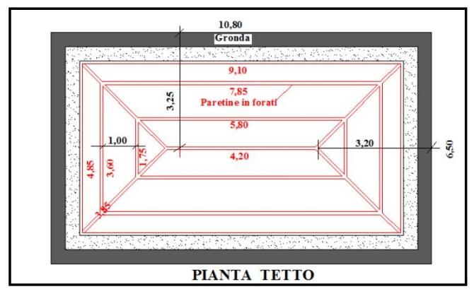 Preventivo n 6 costruzione tetto in paretine tavelloni for Planimetria semplice con dimensioni