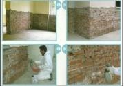 Sistema di risanamento di muri umidi tramite intonaco deumidificante.