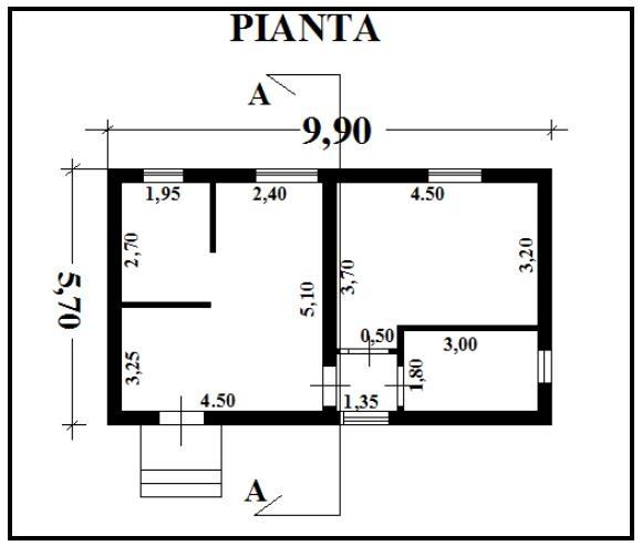 Preventivo n 10 f e p o fornitura e posa in opera di - Disegno pianta casa ...
