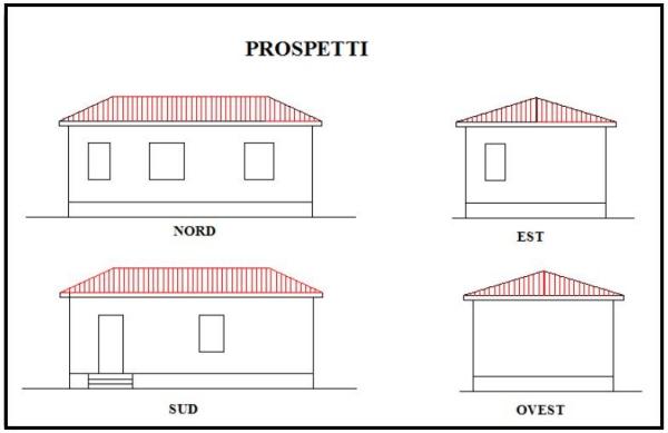 Preventivo n 9 costruzione di pareti interne ed intonaci - Prospetti esterni ...