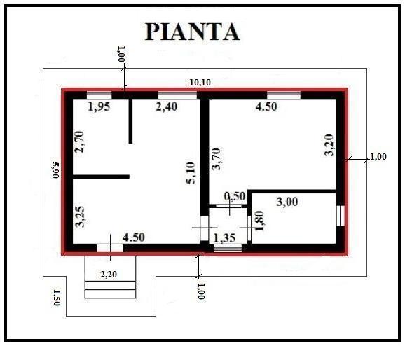 Preventivo n 18 costruzione del marciapiedi esterno alla for Fare una pianta della casa
