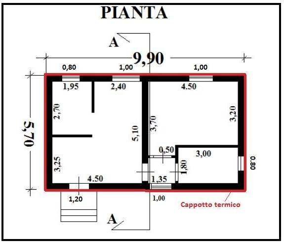 Preventivo n 16 f e p o di infissi interni ed esterni - Finestre in pianta ...