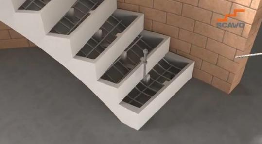 Una innovativa cassaforma per scale in calcestruzzo su misura for Scale prefabbricate per esterni