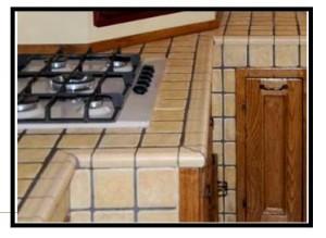 Una bella cucina in muratura con luso dei blocchi gasbeton. parte 2^.
