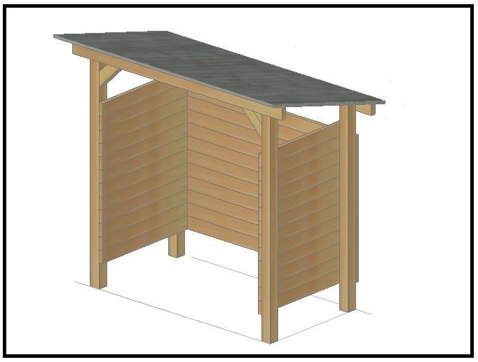 Credenza Da Esterno Fai Da Te : Come costruire una legnaia con il fai da te
