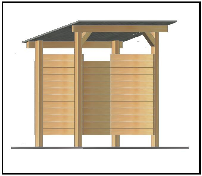 Come costruire una legnaia da giardino pannelli - Costruire un camino in casa ...
