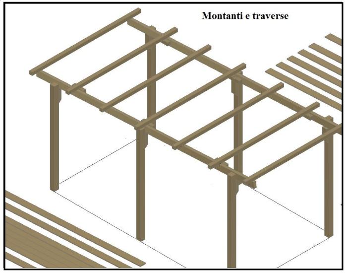 Una tettoia garage costruita in legno for Tettoia legno leroy merlin