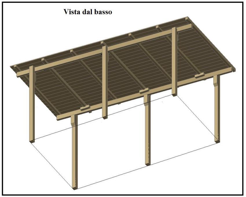 Una tettoia garage costruita in legno for Costo per costruire un garage per auto