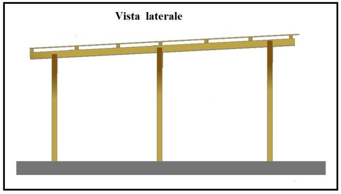 Una tettoia garage costruita in legno for Come costruire un piano mezzanino in un garage