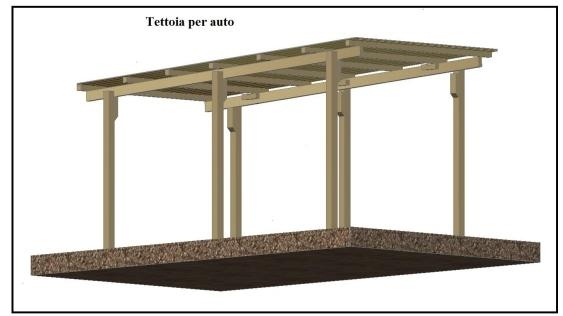 Una tettoia garage costruita in legno for Prezzi del garage della carrozza