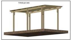 Una tettoia garage costruita in legno for 2 costi di costruzione del garage per auto
