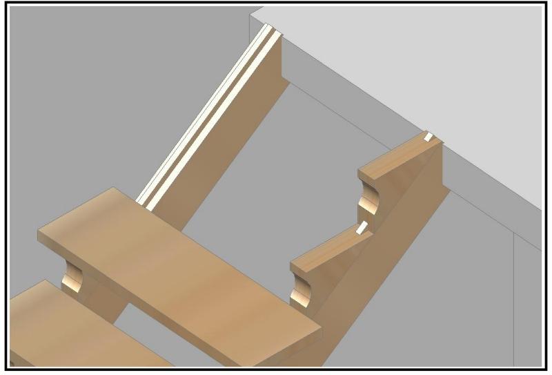 Scala Da Esterno In Legno : Progettazione e costruzione di una scala in legno