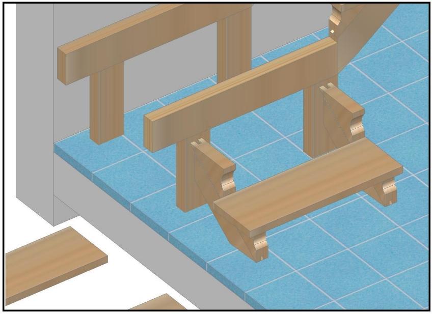Costruire scala in legno semplice e comfort in una casa - Costruire una casa di legno ...
