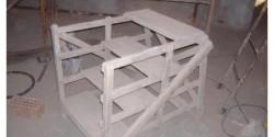 Uno scaleo molto utile per eseguire lavori di rifinitura all'interno di una casa.