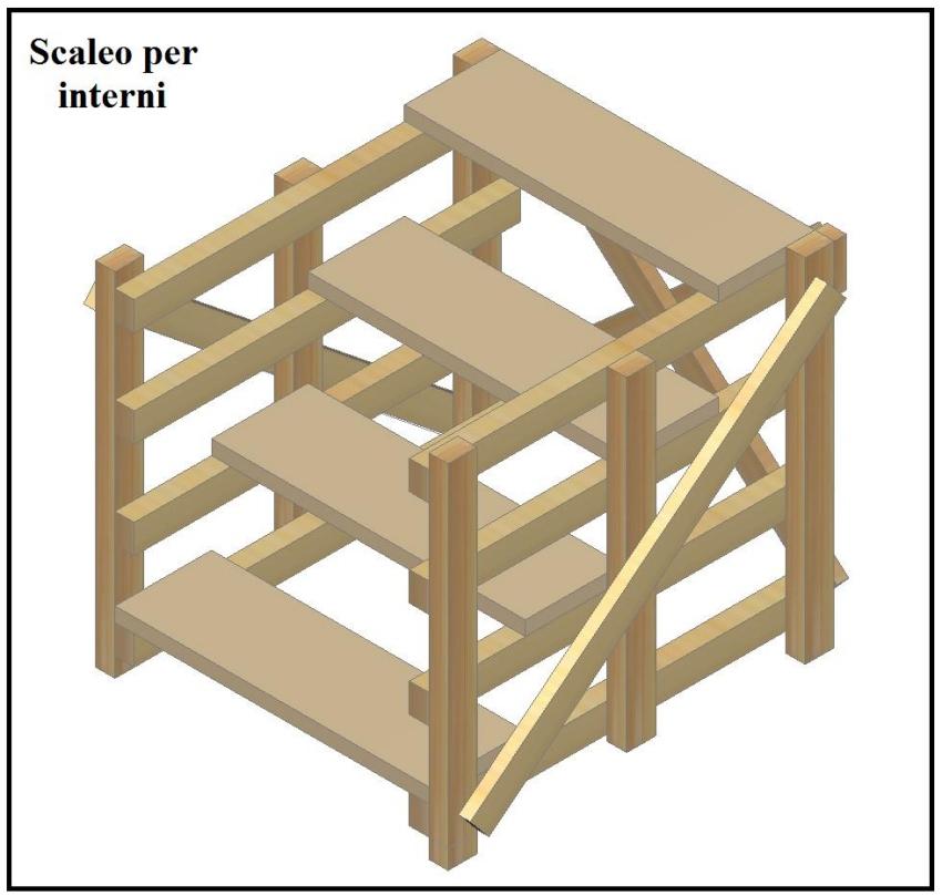 Uno scaleo molto utile per eseguire lavori di rifinitura for Come costruire una casa modello in legno